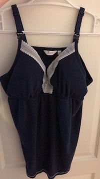 Thyme XL Navy with white lace tank top - maternity Vaughan, L4J 8N8
