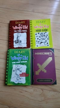 3 Diary of A Wimpy Kid and 1 Minecraft Book Surrey, V4N 0N3