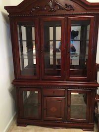 brown wooden display cabinet Gaithersburg, 20877