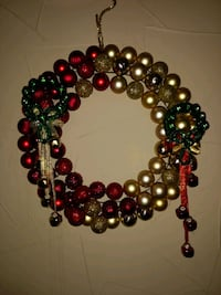 Red, green and gold Christmas wreath Dallas, 75212