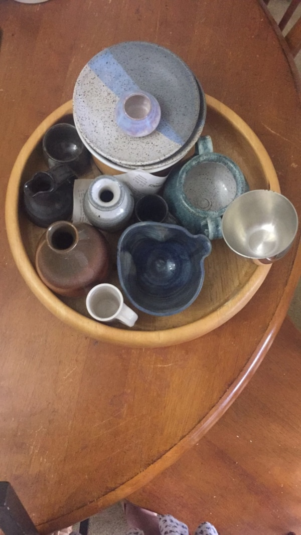 handmade ceramic bowls and plates