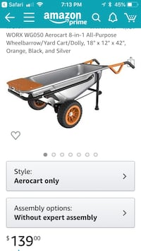 Worx 8 in 1 wheel barrow