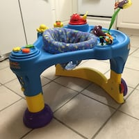 """Fisher-Price"" toddler sit-n-walk-around interactive toy w/ 3 different height adjustments. Clean. Waycross, 31503"