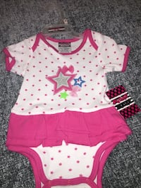 toddler's pink and white onesie Palm Springs, 92262