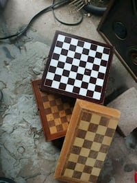 Three wooden chess/gameboards Tucson, 85710