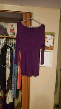 Front tie long sleeve purple dress Ridgeland, 39157