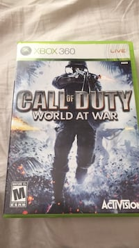 Call of Duty World at War Xbox 360 game case Edmonton, T5Z 3W7