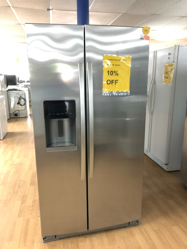 Kenmore stainless steel side by side refrigerator  0