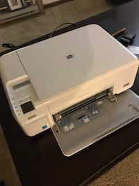 white and black HP desktop printer Peoria