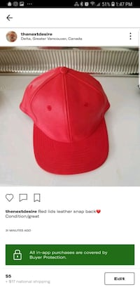 red and white Nike fitted cap screenshot Delta, V4C 1C1