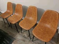 4 tan padded dining chairs Virginia Beach