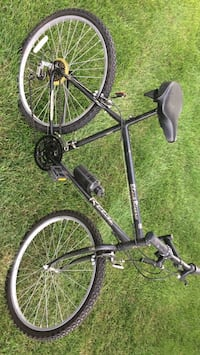 black and gray road bike