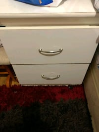 white wooden 2-drawer chest Toronto, M9M 2V5