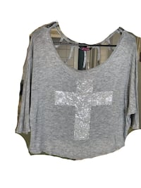 Women's Grey Graphic Blouse Bowie, 20716