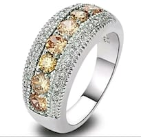 Champagne stone ring...