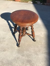 Antique oak swivel piano stool with with claw and glass footings Buena Park, 90620