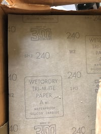 Sandpaper 3M New 240 grit wet or dry 50 cents a sheet Woodbury, 55125