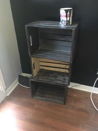 3 wooden crates, comes with wood paint Gatineau, J8Z 1T9