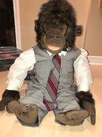 Custom made plush monkey suit Mississauga