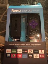 Roku Express TV box with remote