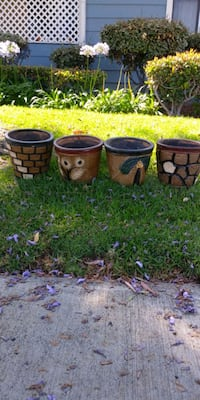 Great looking rustic patio pots