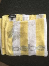 yellow and white knitted textile