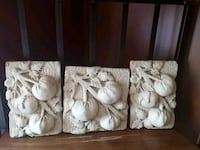 Set of 3 vintage style plaster wall hangs Calgary, T2A 4A9