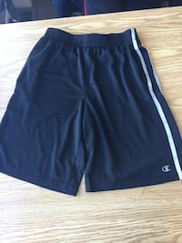 Black with white stripes, Champion shorts