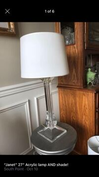 """""""Janet 27 inch acrylic lamp AND shade!-reflects the light beautifully!"""