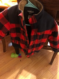 Black and red plaid lined jacket 3-4t(like new) Las Vegas, 89118