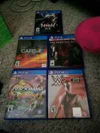 four assorted PS4 game cases Sherwood Park, T8A 4A3