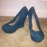 Blue/Green Steve Madden Wedged Pumps Gaithersburg, 20877