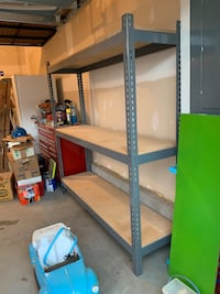 2 sets of shelving units
