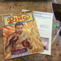 Vintage October 1950 the ring boxing magazine w Joe Louis signed with COA .  Baltimore, 21205