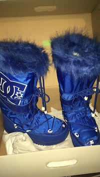Pair of blue and white dc snowboarding boots Toronto, M1X 1W8