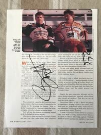 BOBBY LABONTE & TERRY LABONTE AUTOGRAPHED MAGAZINE ARTICLE FROM INSIDE NASCAR MAGAZINE, APRIL 1997