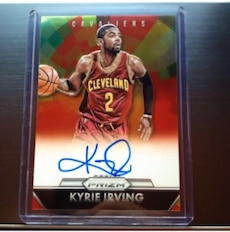 Kyrie Irving signed trading card