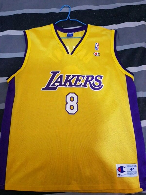 e101de108 Used Los Angeles Lakers 8 Kobe Bryant Champion basketba for sale in ...