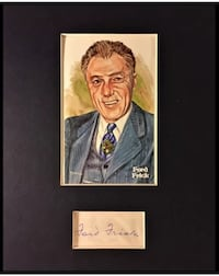 HOF FORD FRICK SIGNED AND FRAMED DISPLAY with COA Fall River, 02720