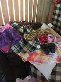 Baby girl clothes and shoes 75+ pieces like new