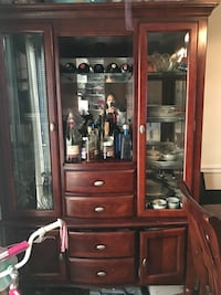 brown wooden display cabinet Atlanta, 30317