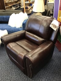 New Brown Leather Reclining Chair By Abbyson Virginia Beach, 23462