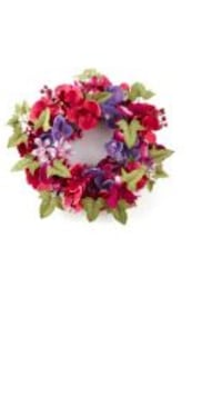 red, green, and purple floral wreath Okemos, 48864