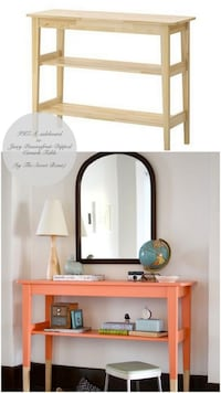 Console table unpainted (solid wood-pine) Reston