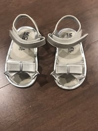 Infant/Toddler Michael Kors Silver Sandals  Edmonton