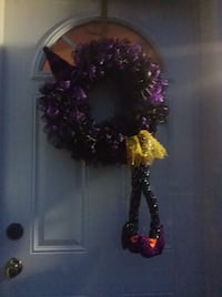 Purple and Black Witch Wreath Welland
