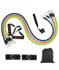 11 PIECE Home Workout Resistance Band Set (EXERCISE EQUIPMENT) Richmond Hill, L4B