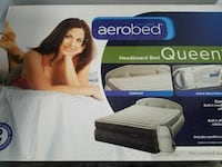 Air bed w inflatable headboard