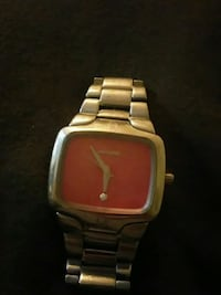 square gold-colored analog watch with link bracelet Riverview, E1B 3G9