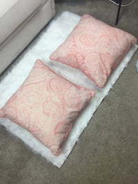 two pink-and-white floral throw pillows- home goods